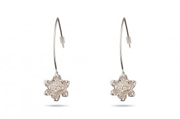 MANI PADMA - Silver earrings, small lotus