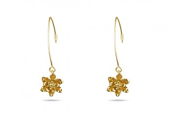 MANI PADMA - Gold plated earrings, small lotus