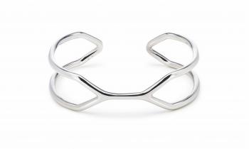 CUFF SING SING - Silver bracelet, glossy