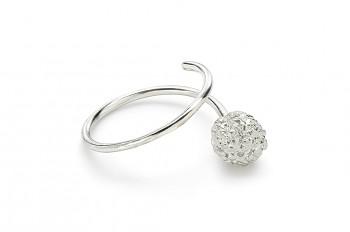 KAMA - Stříbrný prsten, Rudraksha