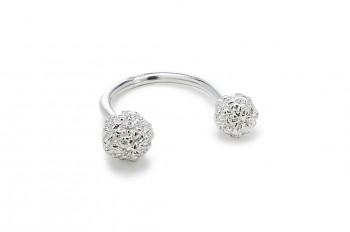 ÁSA - Stříbrný prsten, Rudraksha