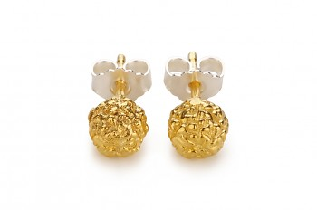 KIRTI - Silver earrings, gold plated