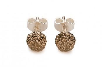 KIRTI - Silver earrings, rose gold plated