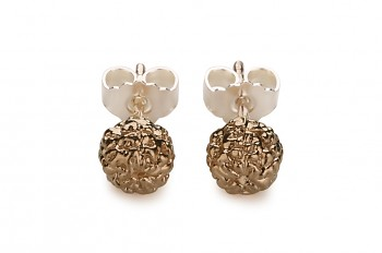 KIRTI - Silver earrings, rose gold plated