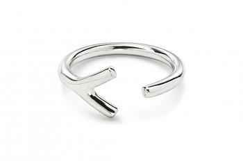 WAI Ring Y - Silver ring, glossy