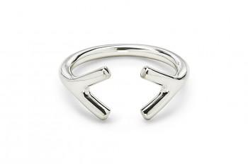 WAI RING YY - Silver ring, glossy