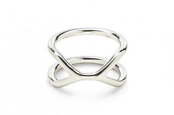CUFF Ring - Stříbrný prsten, lesk