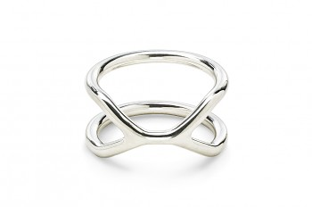 CUFF Ring - Silver ring, glossy