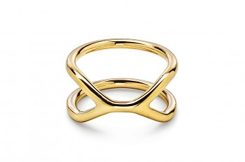 CUFF Ring - Gold plated silver ring, glossy