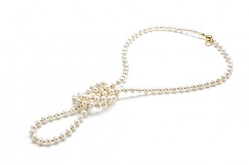 ASTRAIA - Gold plated necklace, freshwater pearl