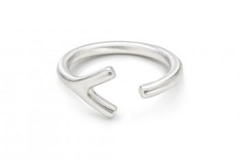 WAI Ring Y - Silver ring, matt