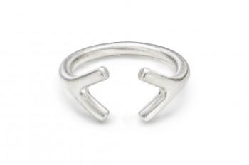 WAI RING YY - Silver ring, matte