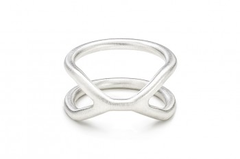 CUFF Ring - Silver ring, matte