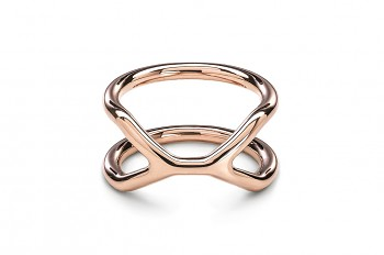 CUFF Ring - Rose gold plated silver ring