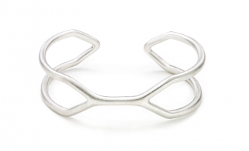 CUFF SING SING - Silver bracelet, matt