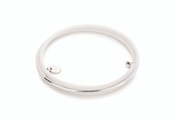 GAIA - bracelet with rubber and silver tube