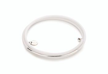 GAIA - náramek z kaučuku se stříbrnou trubičkou