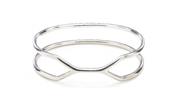 CUFF ALCATRAZ Bracelet - Silver bracelet, glossy