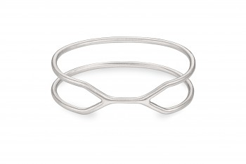 CUFF ALCATRAZ Bracelet - Silver bracelet, matte