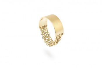 FULEA - Stříbrný prsten, řetízky, pozlacený