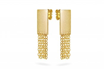 THEIA - Silver earrings, chains, gold plated