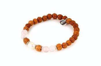 MARSHANDA - zasvěcen touze po LÁSCE, říční perla, růženín, rudraksha, stříbro