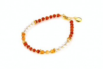 CITRA - dedicated to the desire for HAPPINES, agate, crystal, gold platted silver