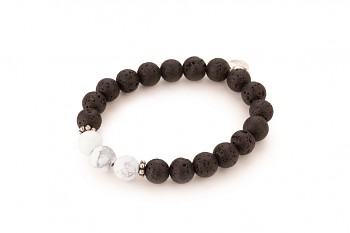 LAVA - dedicated to the desire for the INNER STRENGTH, magnesite, lava and silver