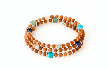 VARIASI - dedicated to the desire for the SERENITY, chrysoprase, agate, rudraksha and silver