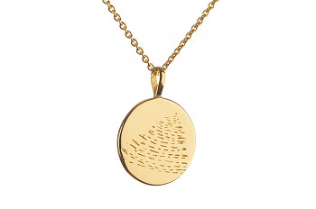 Element FIRE Necklace - gold plated silver