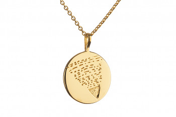 Necklace Element EARTH - gold plated silver