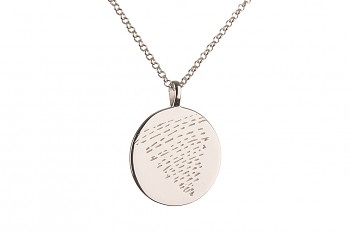 Long Element WATER Necklace - silver