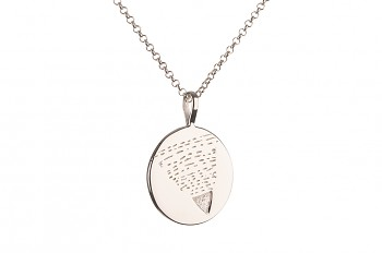 Long Element EARTH Necklace - silver