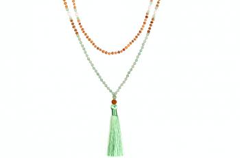 MALA MUSI - zasvěcena touze po MLÁDÍ, avanturín, říční perla, rudraksha a stříbro