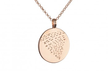 Element WATER Necklace - rose gold plated silver