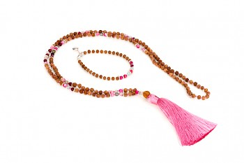 BATUKARU & BROMO with pink tassel set