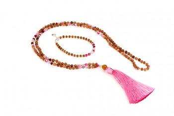 BATUKARU & BROMO with pink tassel set