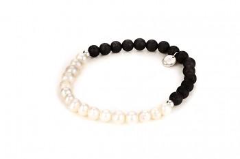 TIRTA - zasvěcen touze po KRÁSE, říční perla, láva a stříbro
