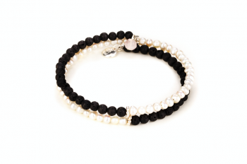 SUNGAI - dedicated to the desire for BEAUTY, lava stone, river pearl and silver