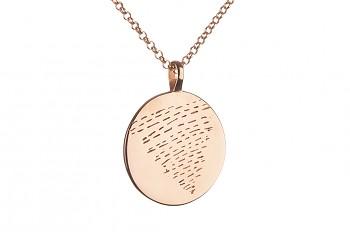 Element VODA - růžovým zlatem pozlacené stříbro, odpovídá znamením zvěrokruhu Ryby, Rak a Štír, řetízek anchor 70cm