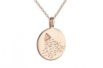 Long Element AIR Necklace - rose gold plated silver