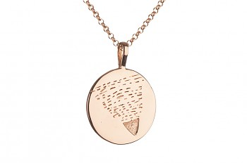 Long Element EARTH Necklace - rose gold plated silver