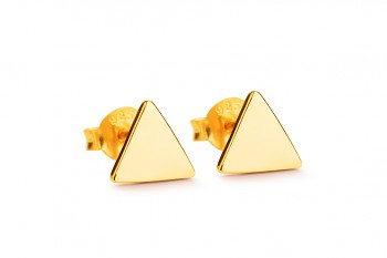 Element FIRE earrings - gold plated silver