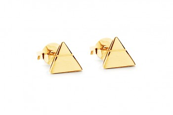 Element AIR earrings - gold plated silver