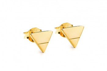 Element EARTH earrings - gold plated silver