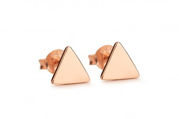 Element FIRE earrings - rose gold plated silver
