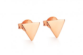 Element WATER earrings - rose gold plated silver