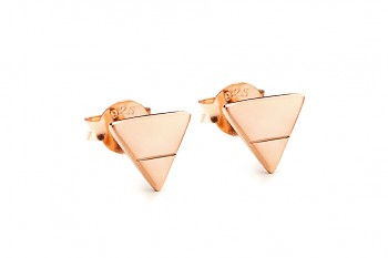 Element EARTH - Golden plated silver earrings