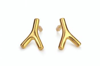 WAI Earrings Mini - Silver gold plated matte earrings