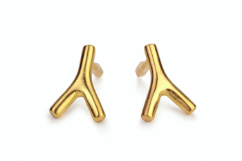 WAI Earrings Mini - Silver gold plated matte earrings